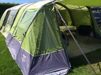 Vango Airbeam Front Awning for Evoque 600, Illusion 800, Ecllipse and Inspire 600, and ground sheet.