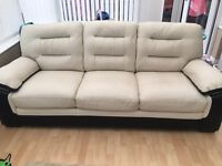3 and 2 seater leather suite