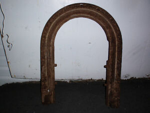 antique iron mantle for fireplace
