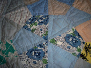 PATCH QUILT HAND QUILTED SIZE DOUBLE BED 59'' X 70'' Stratford Kitchener Area image 4