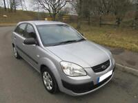 2006 '06' KIA RIO 1.4 GS 5 DOOR HATCH IN SILVER ONLY 61,000 MILES F,S,H,