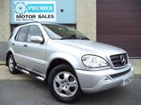 2002 (52) MERCEDES ML270 CDI AUTO, SAT NAV, FULL HEATED LEATHER, CRUISE +