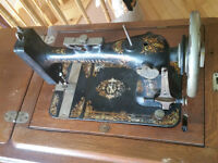 *Reduced* Antique Sewing machine and desk circa 1894 Canadian!