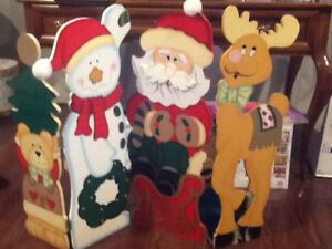 Large 4 panel Christmas craft decoration