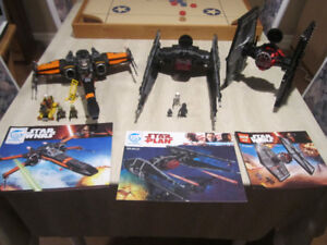 LEGO compatible Star Wars X-Wing, Tie Fighter x 2