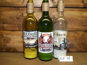 3  COLLECTOR BOTTLES GREAT FOR THE MAN CAVE 3 FOR ONLY $5.00