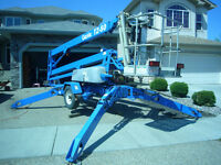 """Genie TZ-50 boom lift.  Towable and comes with """"Drive and Set"""""""