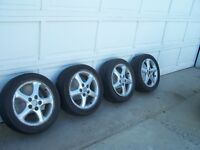 """4 16"""" Mazda Rims with 2 Good tires"""