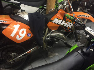 Ktm sx 125 with pro ice tires