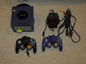 Nintendo Gamecube and 2 controllers