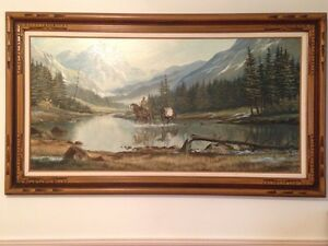 Original Large Jerry Doell Oil Painting