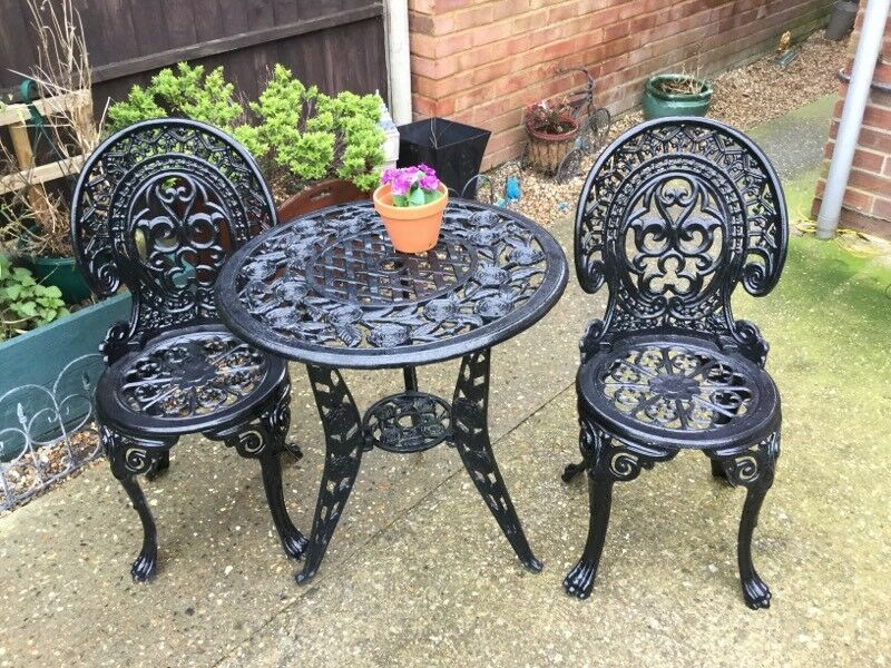 garden table and chairs cast aluminium - Garden Furniture Kings Lynn