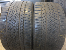 2 x high quality continental contact tyres 295 30 R20 winter tyres
