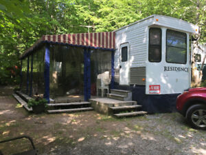 """Roulotte Residence 40"""" Camping du Lac Blanc"""