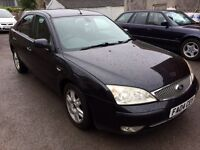 2004 FORD MONDEO 2.0 TURBO DIESEL TDCI GHIA, **AUGUST 2017 MOT** TOP SPEC, ONLY 110,000 MILES