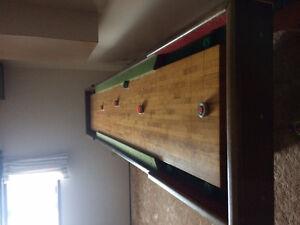 Shuffle board table.
