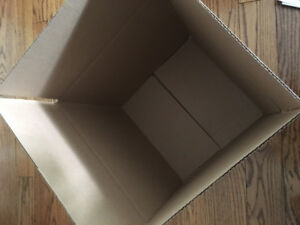 "STRONG CARDBOARD BOXES SIZE 14"" x 14"" x 14"" NEW $2.50 each"