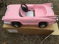 Pink pedal car brand new