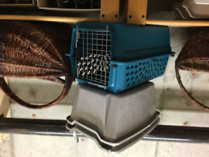 Kitty litter box and kennel
