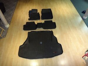 Weathertech Floor & Trunk liners for 2004-2008 Acura TL - Black