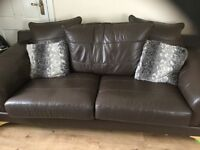 3+2 brown leather suite
