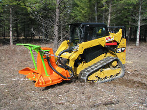 New skid steer / bobcat SS MM forestry mulching attachment