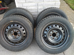 Snow Tire and Rim Package -Size 205 55/R16