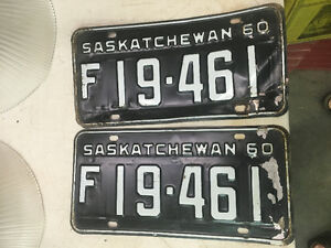 1960 Sask Farm License Plates set