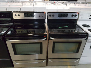 Stove stainless steel ceramic top-Durham Appliances