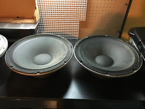 2 Peavey 1505-DT Black Widow Speakers Tested and Working 8 Ohm