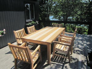 Meubles de jardin (Brossard) – Ensemble de patio en Cèdre Rouge