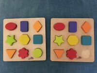 Brightly coloured shape wooden tray jigsaw