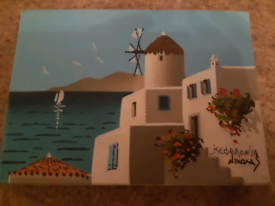 Holiday mini canvas picture
