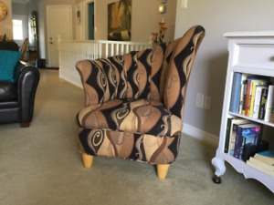 Matching Upholstered Gossip Chairs
