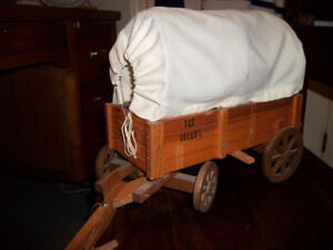 Vintage Cowboy Wagon Lamp (solid wood)