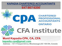 Tax, Incorporation by CPA CA CFA in Mississauga & Toronto Downto