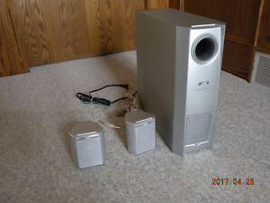 JVC Powered SubWoofer with 5 speakers