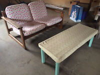 2 seater and table