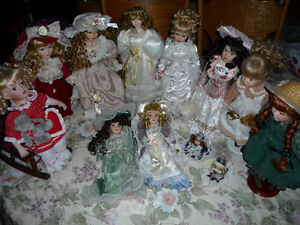 10 Genuine Porcelain Dolls : Clean,SmokeFree : As Shown Cambridge Kitchener Area image 1