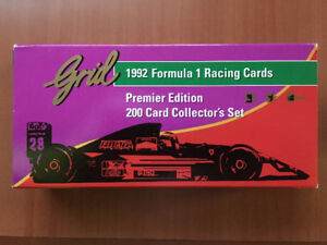 GRID 1992 FORMULA ONE RACING CARDS SET OF 200