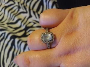 Antique style Aquamarine ring sz 7
