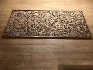 Wood Trim Cork Filled Bar Top