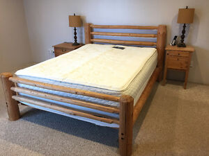 Queen Bed Frame - Knotty Pine