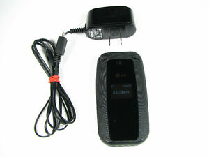LG 440G TRACFONE SIM CARD FLIP CELL PHONE WITH POWER ADAPTER