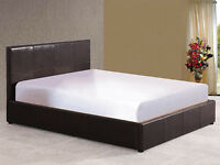 End Lift ottoman Bed Double Bed Frame in Brown or Black