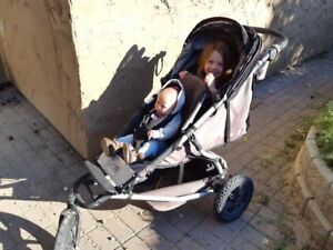 Mountain Buggy +One Double Jogging Stroller