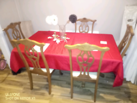 Dining table and chairs very good condition