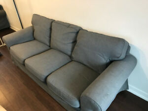 Buy this couch and get a free table!! for $250 CAD. All new