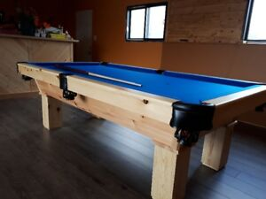 new     4x8     knotty pine pool table