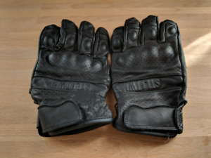 Leather size Large Motorcycle gloves